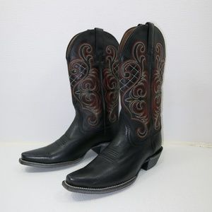Ariat Shoes - Ariat Pointed Toe Leather Cowboy Boots Cowgirl 7 B